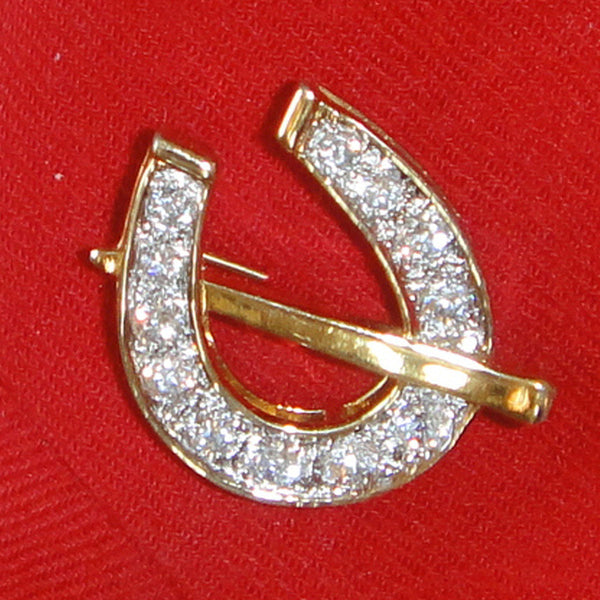 Sterling Silver Horseshoe pin with cz's