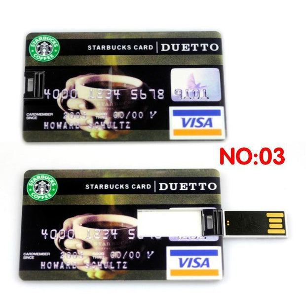 Credit card Memory Flash Drive