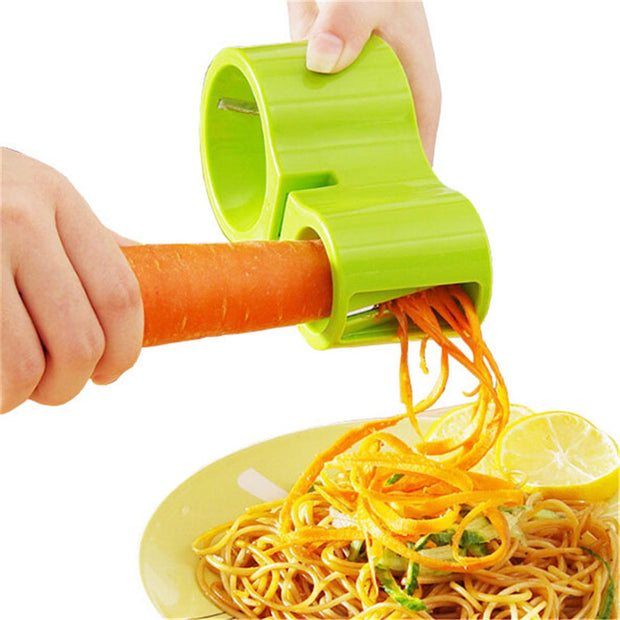Vegetable Fruit Spiralizer Slicer Grater And Knife Sharpener-Multi-Functional