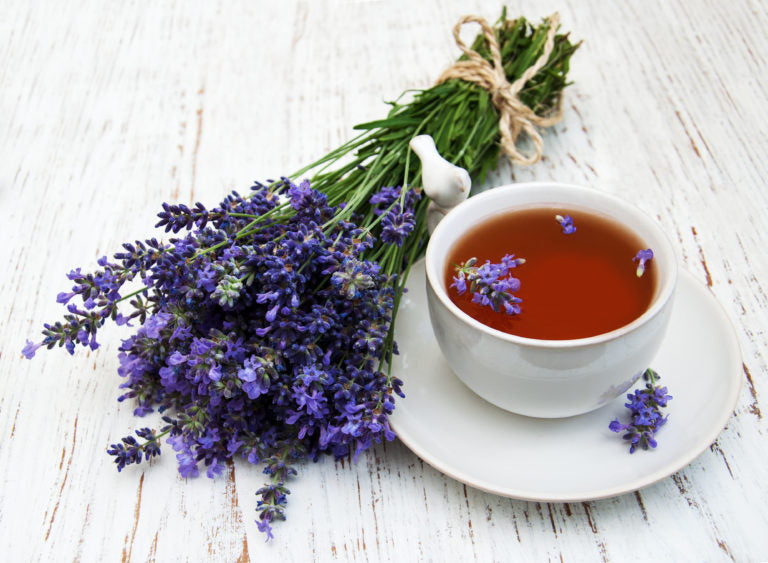 Cup of tea with lavender flowers | HealthMasters