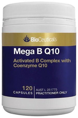 BioCeuticals Mega B Q10 120 soft caps 10% off RRP at HealthMasters BioCeuticals