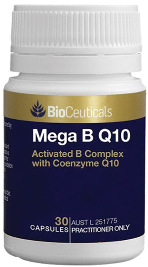BioCeuticals Mega B Q10 30 soft caps 10% off RRP at HealthMasters BioCeuticals