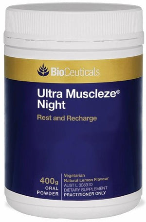 BioCeuticals Ultra Muscleze Night 400g 10% off RRP at HealthMasters