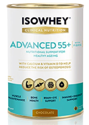 BioCeuticals IsoWhey Clinical Nutrition Advanced 55+ Chocolate 400g 10% off RRP | HealthMasters