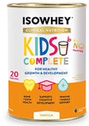 BioCeuticals IsoWhey Clinical Nutrition Kids Complete Vanilla 600g 10% off RRP | HealthMasters