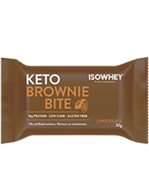 BioCeuticals IsoWhey Keto Brownie Bite Chocolate 330g (10 x 33g pack) 10% off RRP | HealthMasters
