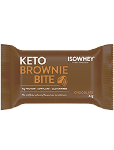 BioCeuticals IsoWhey Keto Brownie Bite Chocolate 330g (10 x 33g pack)