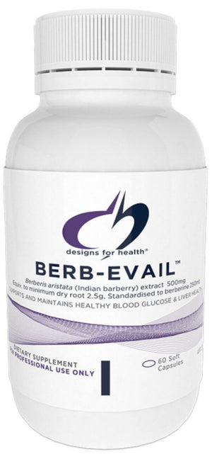Designs For Health Berb Evail 60c 10% off RRP | HealthMasters Designs For Health