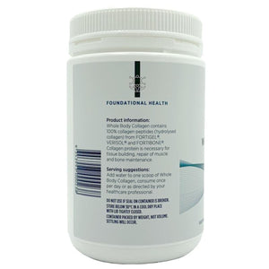 Designs For Health Whole Body Collagen 375gm side 1 10% off RRP at HealthMasters Designs for Health