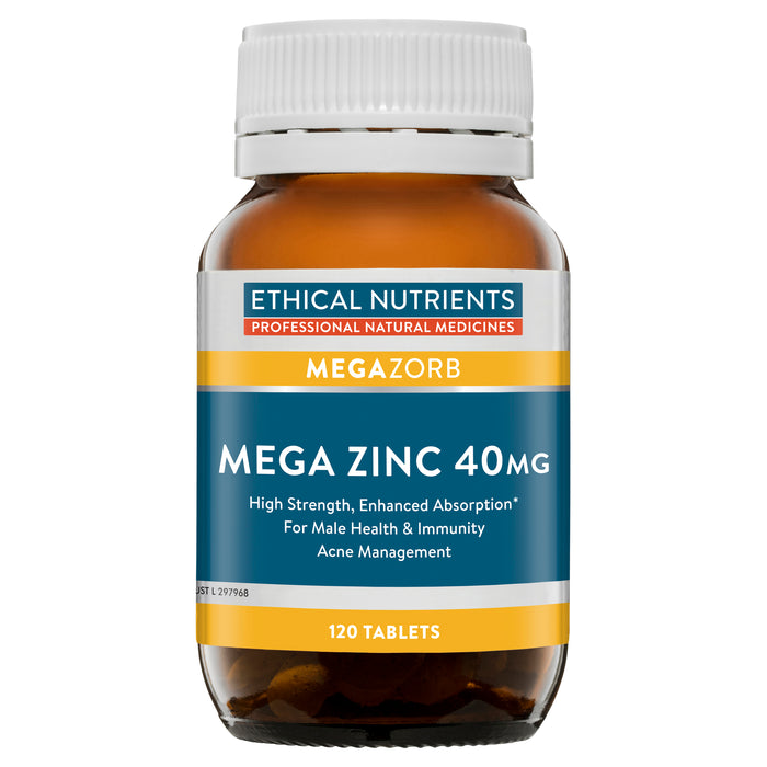 Ethical Nutrients MEGAZORB Mega Zinc 40mg 120 Tabs