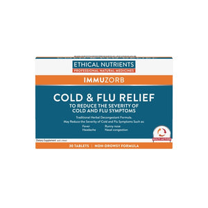 Ethical Nutrients IMMUZORB Cold and Flu Relief 30 Tablets Discounted | HealthMasters