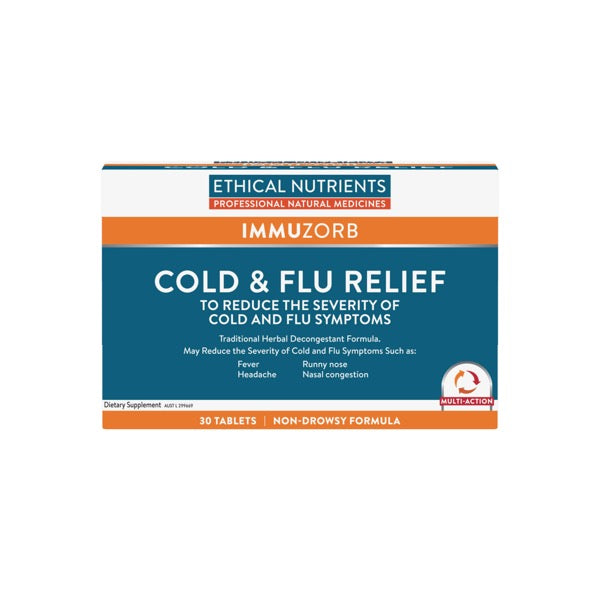 Ethical Nutrients IMMUZORB Cold and Flu Relief 30 Tablets