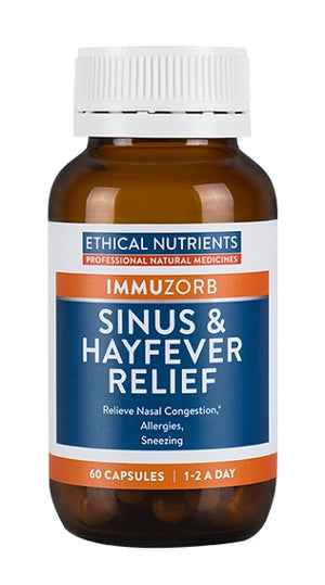 Ethical Nutrients Sinus & Hayfever Relief 60 Caps | HealthMasters