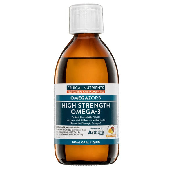 Ethical Nutrients OMEGAZORB High Strength Omega-3 Liquid Fruit Punch 280mL