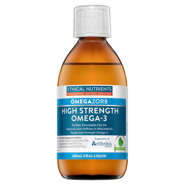 Ethical Nutrients OMEGAZORB High Strength Omega-3 Liquid (Mint) 280 mL