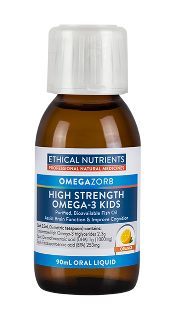 Ethical Nutrients OMEGAZORB High Strength Omega-3 Kids Orange 90 mL