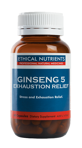 Ethical Nutrients Ginseng 5 Exhaustion Relief 60 Caps