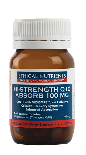 Ethical Nutrients Hi-Strength Q10 Absorb 100 mg 30 Caps