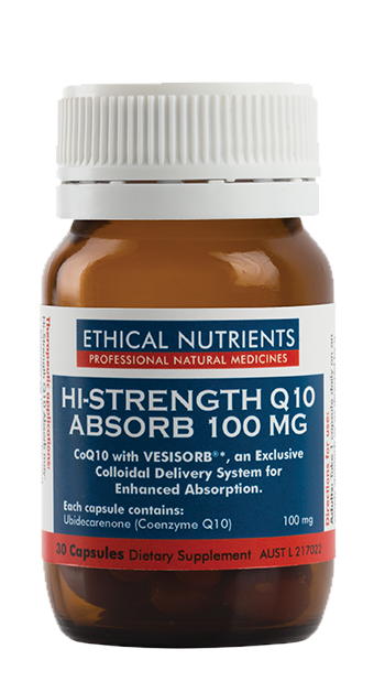 Ethical Nutrients Hi-Strength Q10 Absorb 100 mg 30 Capsules