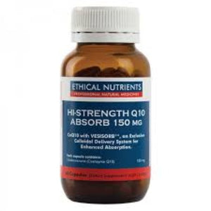 Ethical Nutrients Hi-Strength Q10 Absorb 150mg 60 tabs | HealthMasters