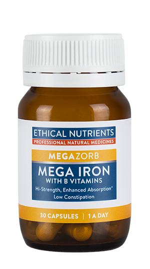 Ethical Nutrients MEGAZORB Mega Iron with Activated B's (NEW) 30 Caps | HealthMasters