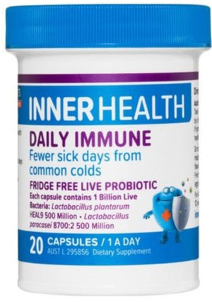 Inner Health Daily Immune 20caps 20% off RRP at HealthMasters