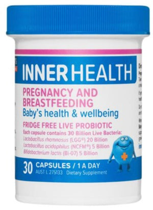 Inner Health Pregnancy and Breastfeeding 30caps 20% off RRP at HealthMasters