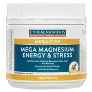 Ethical Nutrients MEGAZORB Mega Magnesium Energy and Stress 230g Front