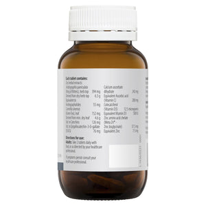 Metagenics Andro NK 40tabs 10% off RRP Label Ingredients | HealthMasters Metagenics