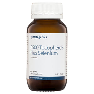 Metagenics E500 Tocopherols Plus Selenium 60 Capsules-1