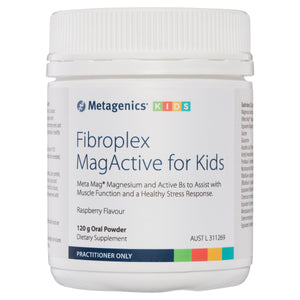 Metagenics Fibroplex MagActive for Kids Oral Powder Raspberry 120g-1
