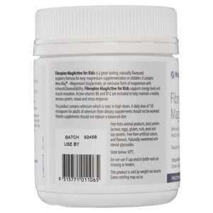 Metagenics Fibroplex MagActive for Kids Oral Powder Raspberry 120g-3