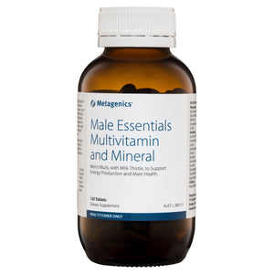 Metagenics Male Essentials Multivitamin and Mineral 120 Tablets-1