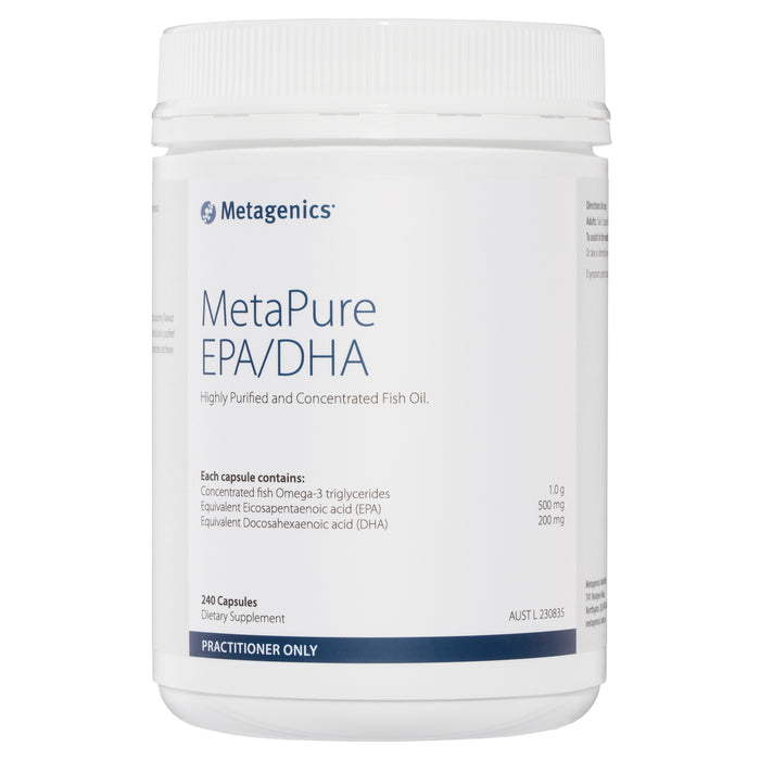 Metagenics MetaPure EPA/DHA Fish Oil Omega-3 240 capsules