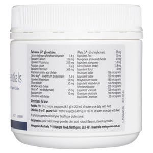 Metagenics Mineral Essentials Vanilla Flavour 153 g-2