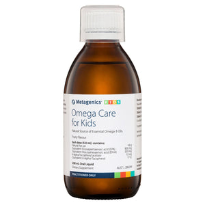 Metagenics Omega Care for Kids Oral Liquid Fruity 200mL-1