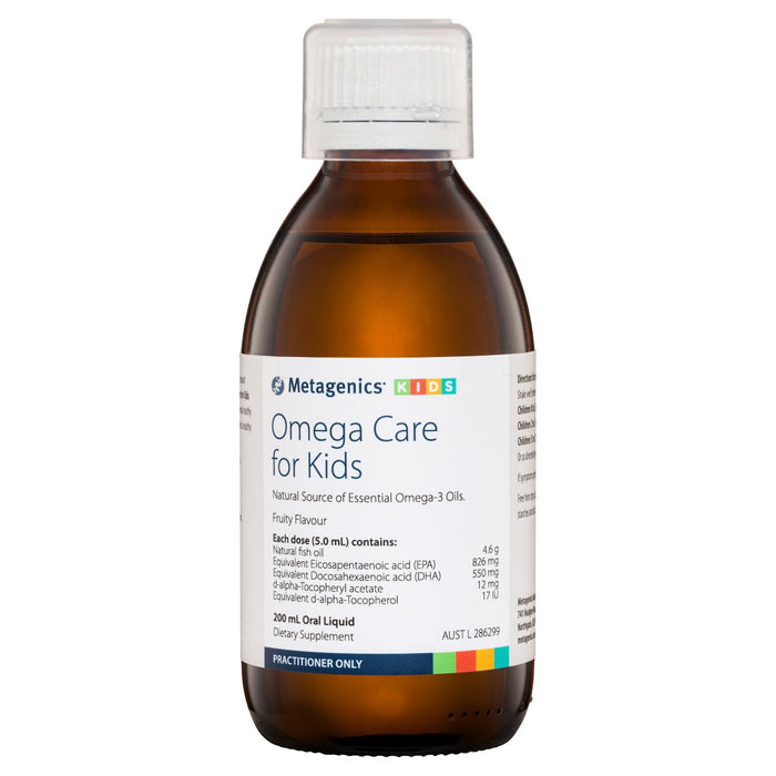 Metagenics Omega Care For Kids Fruity flavour 200ml