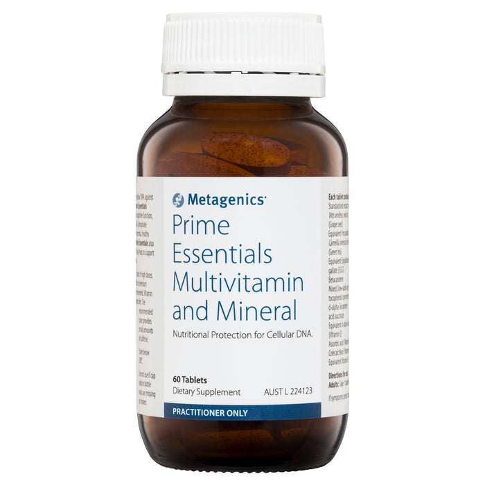 Metagenics Prime Essentials Multivitamin and Mineral 60 tablets