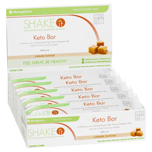 Metagenics Shake It Keto Bar Caramel 10 Pack-1