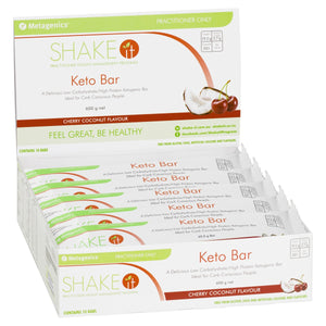 Metagenics Shake It Keto Bar Cherry Coconut 10 Pack-1