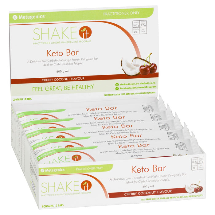 Metagenics Keto Bar Cherry Coconut 60 g Box of 10