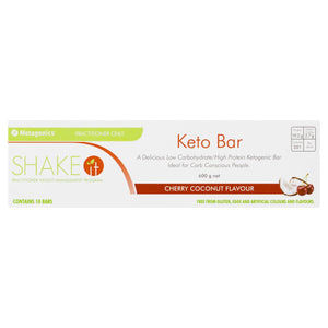 Metagenics Shake It Keto Bar Cherry Coconut 10 Pack-2