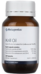 Metagenics Krill Oil 30 capsules 10% off RRP at HealthMasters