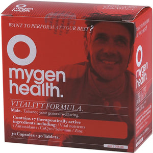 Mygen Health Vitality Formula Male 30t & 30c 10% off RRP at HealthMasters Mygen