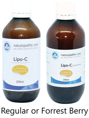 Naturopathic Care Lipo-C Regular or Forrest Berry 200ml 10% off RRP at HealthMasters Naturopathic Care
