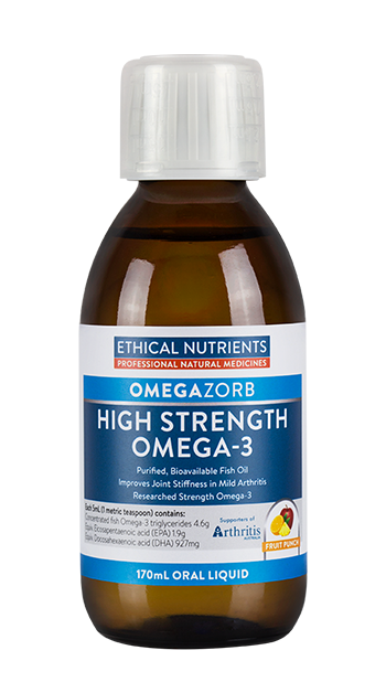 Ethical Nutrients OMEGAZORB High Strength Omega-3 Liquid (Fruit Punch) 170mL