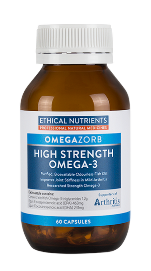Ethical Nutrients OMEGAZORB High Strength Omega-3 Capsules 60 Caps | HealthMasters
