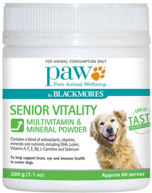 PAW By Blackmores Senior Vitality Multivitamin & Mineral Powder 200g