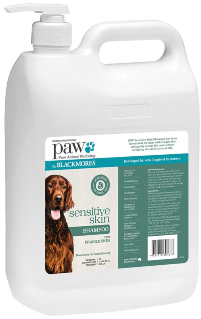 PAW By Blackmores Sensitive Skin Shampoo (Rosemary & Sandalwood) 5L
