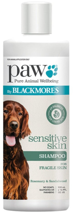 PAW By Blackmores Sensitive Skin Shampoo (Rosemary & Sandalwood) 500ml 10% off RRP at HealthMasters PAW by Blackmores
